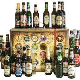 Bier Adventskalender Welt und Deutschland mit Tiger Beer + Stella Artois + Singha + Efes + San Miguel + Lapin Kulta + Moretti + mehr ... Ein tolles Geschenk für Männer. Bierset + Geschenk, Biersorten aus aller WELT & DEUTSCHLAND. Bieradventskalender 2016 - mit 24 Biersorten in FLASCHEN Adventskalender Bier Welt 2016 - Adventskalender für Männer, Adventskalender für Erwachsene, Bierkalender Adventskalender Alkohol, Weihnachtskalender mit Bier, Bier Adventskalender Weihnachtsgeschenke Bier Männer -