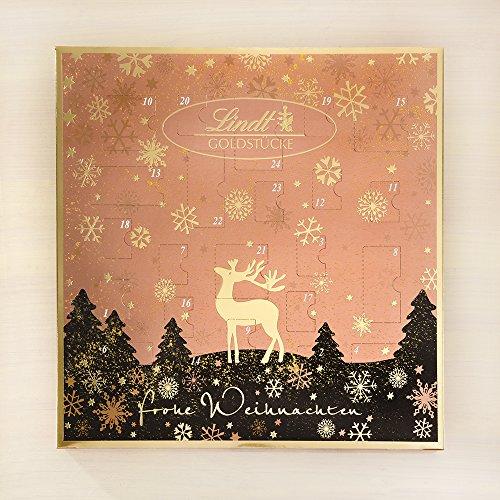 lindt spr ngli goldst cke adventskalender rotgold 1er pack 1 x 156 g adventskalender f r. Black Bedroom Furniture Sets. Home Design Ideas