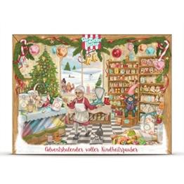 Adventskalender 2016 mit Süßigkeiten aus der Kindheit | Der Zuckerbäcker | Adventskalender für Erwachsene und Kinder gefüllt mit Fruchtgummi, Kaubonbons, Lebkuchen und weiteren Leckereien -