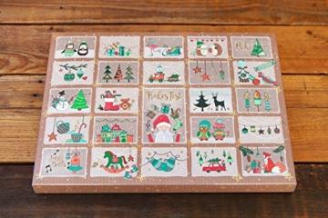 Adventskalender für Kinder und Erwachsene mit Süßigkeiten, die man aus der Kindheit kennt | Kindheitszauber | Weihnachtsgebäck, Schokolade, Kaubonbons, Karamell und mehr | Adventskalender und Geschenkanhänger in Einem -