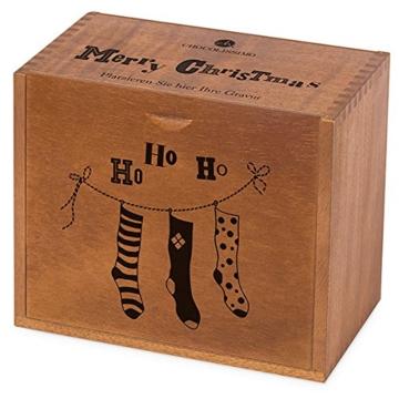 Adventskalender Grande - ohne Alkohol - 24 Pralinen in einem Holzkästchen -