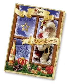 Asbach-Pralinen Adventskalender Wohlfühlwelt, 1er Pack (1 x 260 g) -