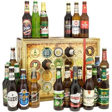 Bieradventskalender Welt und Deutschland mit Guiness + Tiger + Schlappeseppel + mehr ... Ein tolles Geschenk für Männer. Bierset + Geschenk, Biersorten aus aller WELT & DEUTSCHLAND. Bier Adventskalender 2017 - mit 24 Biersorten in FLASCHEN Adventskalender Bier Welt 2017 - Adventskalender für Männer, Adventskalender für Erwachsene, Bierkalender Adventskalender Alkohol, Weihnachtskalender mit Bier, Bier Adventskalender Weihnachtsgeschenke Bier Männer - 2