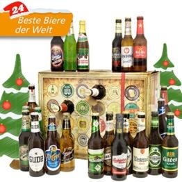 Bieradventskalender Welt und Deutschland mit Guiness + Tiger + Schlappeseppel + mehr ... Ein tolles Geschenk für Männer. Bierset + Geschenk, Biersorten aus aller WELT & DEUTSCHLAND. Bier Adventskalender 2017 - mit 24 Biersorten in FLASCHEN Adventskalender Bier Welt 2017 - Adventskalender für Männer, Adventskalender für Erwachsene, Bierkalender Adventskalender Alkohol, Weihnachtskalender mit Bier, Bier Adventskalender Weihnachtsgeschenke Bier Männer - 1