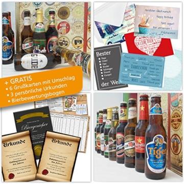Bieradventskalender Welt und Deutschland mit Guiness + Tiger + Schlappeseppel + mehr ... Ein tolles Geschenk für Männer. Bierset + Geschenk, Biersorten aus aller WELT & DEUTSCHLAND. Bier Adventskalender 2017 - mit 24 Biersorten in FLASCHEN Adventskalender Bier Welt 2017 - Adventskalender für Männer, Adventskalender für Erwachsene, Bierkalender Adventskalender Alkohol, Weihnachtskalender mit Bier, Bier Adventskalender Weihnachtsgeschenke Bier Männer - 4