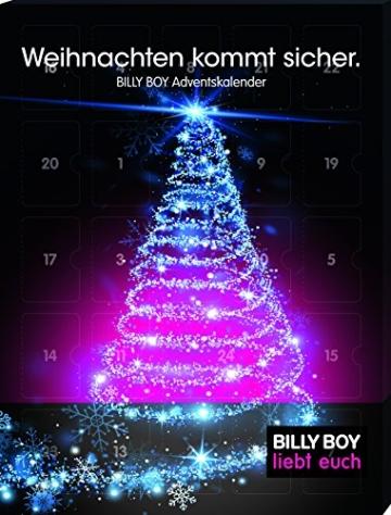 Billy Boy Adventskalender - Weihnachten kommt sicher. 24 plus 2 Kondome für eine sinnliche Vorweihnachtszeit, 1er Pack (1 x 26 Stück) - 1