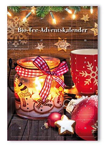 Bio-Tee-Adventskalender mit 24 Pyramidenbeuteln in XXL Format -
