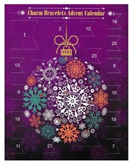 Charm/Anhänger Weihnachten Adventskalender Armband, Länge 5,5 cm - 6,5 cm - 1