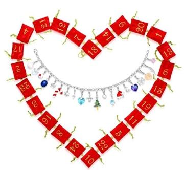 Echtschmuck Adventskalender Damen-Schmuckset Geschenkideen für die Frau oder Freundin mit 24 Schmuckstücken aus 925 Sterling Silber Emaille Kristall mehrfarbig - 4050878527280 - 1