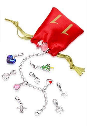 Echtschmuck Adventskalender Damen-Schmuckset Geschenkideen für die Frau oder Freundin mit 24 Schmuckstücken aus 925 Sterling Silber Emaille Kristall mehrfarbig - 4050878527280 - 5