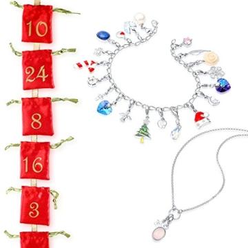 Echtschmuck Adventskalender Damen-Schmuckset Geschenkideen für die Frau oder Freundin mit 24 Schmuckstücken aus 925 Sterling Silber Emaille Kristall mehrfarbig - 4050878527280 - 7