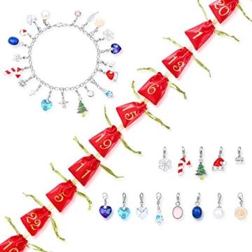 Echtschmuck Adventskalender Damen-Schmuckset Geschenkideen für die Frau oder Freundin mit 24 Schmuckstücken aus 925 Sterling Silber Emaille Kristall mehrfarbig - 4050878527280 - 8