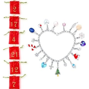 Echtschmuck Adventskalender Damen-Schmuckset Geschenkideen für die Frau oder Freundin mit 24 Schmuckstücken aus 925 Sterling Silber Emaille Kristall mehrfarbig - 4050878527280 - 9