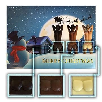 erotischer Adventskalender mit 3 Sorten Schokolade (75g) sexy Adventskalender - 1