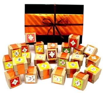 Gewürz - Adventskalender mit 24 Gewürzspezialitäten in der Geschenkbox - eine kulinarische Gewürzreise aus der Finca Marina Gewürzmanufaktur -