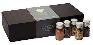 Gewürzbox / Adventskalender mit 24 Gewürzen und - mischungen in Glasdosen. (1,8kg schwer) - der perfekte Adventsbegleiter für jeden Koch - 2