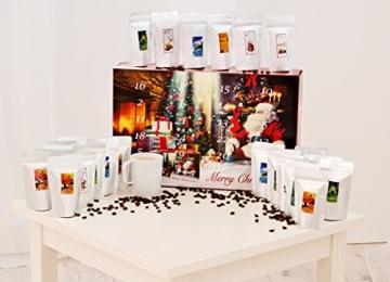 Kaffee Adventskalender (rot) - Kaffee aus aller Welt - 24 Geschenke inkl. Kopi Luwak (Spitzenkaffee von freilebenden Tieren) (24 x 40 g Kaffee ganze Bohnen) - 1