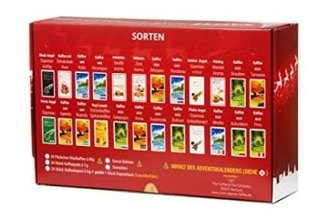 Kaffee Adventskalender (rot) - Kaffee aus aller Welt - 24 Geschenke inkl. Kopi Luwak (Spitzenkaffee von freilebenden Tieren) (24 x 40 g Kaffee ganze Bohnen) - 3