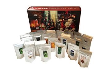 Kaffee Adventskalender (rot) - Kaffee aus aller Welt - 24 Geschenke inkl. Kopi Luwak (Spitzenkaffee von freilebenden Tieren) (24 x 40 g Kaffee ganze Bohnen) - 7