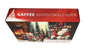 Kaffee Adventskalender (rot) - Kaffee aus aller Welt - 24 Geschenke inkl. Kopi Luwak (Spitzenkaffee von freilebenden Tieren) (24 x 40 g Kaffee ganze Bohnen) - 8