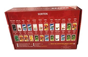 Kaffee Adventskalender (rot) - Kaffee aus aller Welt - 24 Geschenke inkl. Kopi Luwak (Spitzenkaffee von freilebenden Tieren) (24 x 40 g Kaffee ganze Bohnen) - 9