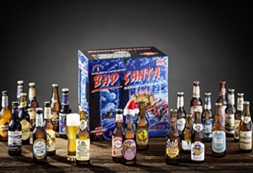 KALEA Bier Adventskalender mit 24 Bieren und 1 exklusivem Verkostungsglas (Edition Bad Santa) - 2