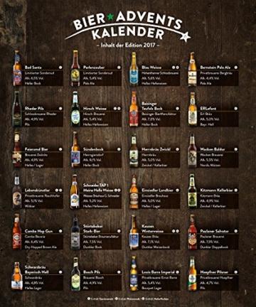 KALEA Bier Adventskalender mit 24 Bieren und 1 exklusivem Verkostungsglas (Edition Bad Santa) - 3