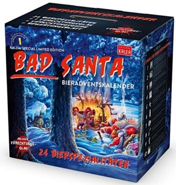 KALEA Bier Adventskalender mit 24 Bieren und 1 exklusivem Verkostungsglas (Edition Bad Santa) - 1