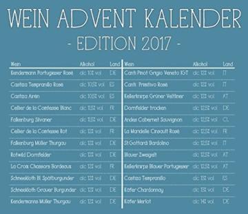 KALEA Wein Adventskalender (24 verschiedene Weinsorten à 0,25l) - 2