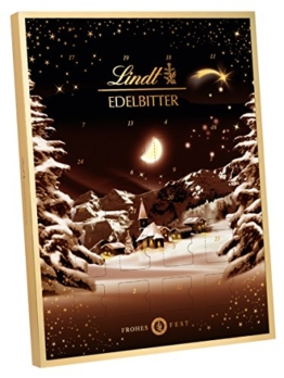 Lindt & Sprüngli Edelbitter Adventskalender, 1er Pack (1 x 250 g) -