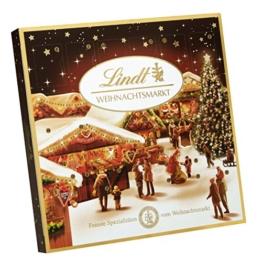 Lindt & Sprüngli Weihnachtsmarkt Tisch Adventskalender, 1er Pack (1 x 115 g) -