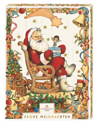 "Niederegger Adventskalender Motiv ""Weihnachtsmann"", 1er Pack (1 x 500 g) -"