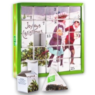 Nostalgie Tee-Adventskalender, 25 Würfel mit BIO-Weihnachtstees in hochwertigen Pyramiden-Teebeutel - 3