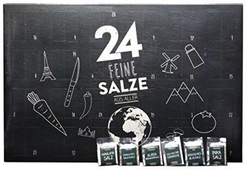 Salzkalender - Großer Adventskalender mit 24 Salzen aus aller Welt - 1