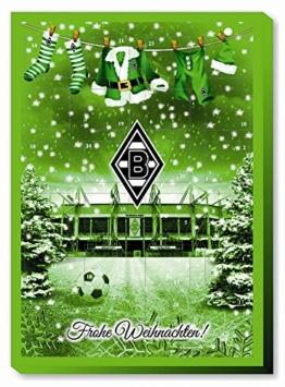 Schon jetzt bestellen - begrenzte Stückzahl vorrätig Adventskalender gefüllt offizielles Borussia M Gladbach Lizenzprodukt Masse: 35 x 25 x 1,5 cm Vor Wärme schützen Kühl und trocken lagern. -