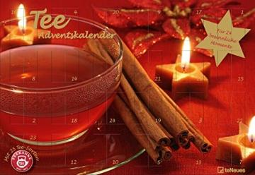 Tee-Adventskalender 2016 - Teekanne, 25 Teekompositionen für eine genussvolle Adventszeit - 56 x 38 cm - 1