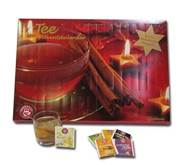 Tee-Adventskalender 2016 - Teekanne, 25 Teekompositionen für eine genussvolle Adventszeit - 56 x 38 cm - 2