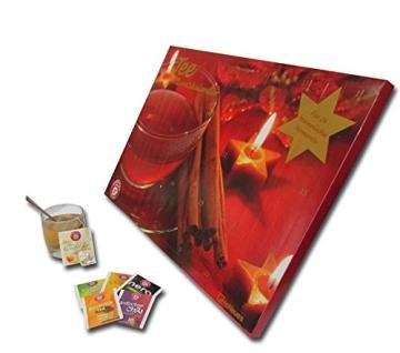 Tee-Adventskalender 2016 - Teekanne, 25 Teekompositionen für eine genussvolle Adventszeit - 56 x 38 cm - 3