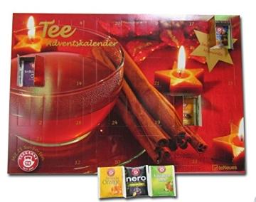 Tee-Adventskalender 2016 - Teekanne, 25 Teekompositionen für eine genussvolle Adventszeit - 56 x 38 cm - 5