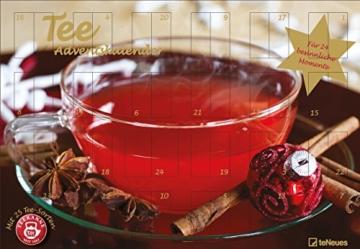 Tee - Adventskalender 2017 - Teekanne, 25 Teekompositionen für eine genussvolle Adventszeit  -  56 x 38 cm -