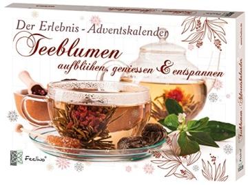 Teeblumen Adventskalender XXL mit einer Vielzahl von unterschiedlichen Teerosen und Teeblüten zum aufblühen, genießen & entspannen! Die ideale Geschenkidee oder einfach als Probier-Set - 1