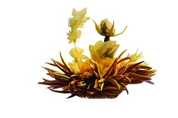 Teeblumen Adventskalender XXL mit einer Vielzahl von unterschiedlichen Teerosen und Teeblüten zum aufblühen, genießen & entspannen! Die ideale Geschenkidee oder einfach als Probier-Set - 9