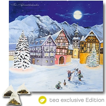 XL Tee-Adventskalender 2016 (48x49cm!) 24 Pyramiden-Beutel, hochwertige Kräuter-, Früchtetees (NEUES DESIGN 2016) -