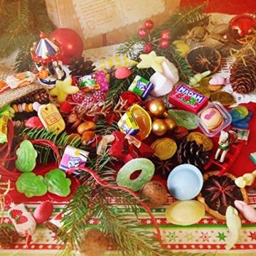 Zauberhafter Adventskalender von Der Zuckerbäcker gefüllt mit Fruchtgummis, Kaubonbons und weiteren süßen Kindheitserinnerungen -